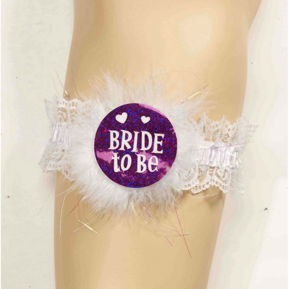 Forum Novelties Bride to Be Garter One Size White - View #2