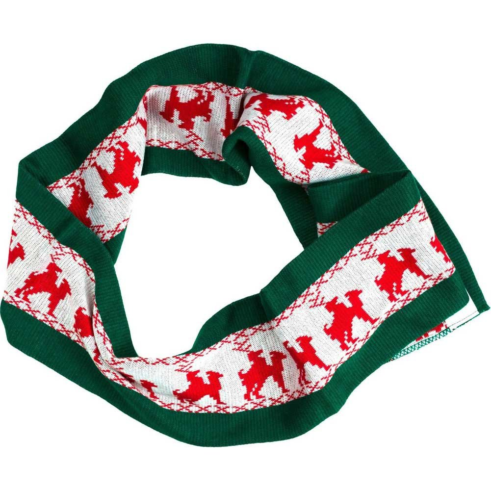 Forum Novelties Naughty Reindeer Games Scarf Novelty Accessory Winter Green/Red - View #3