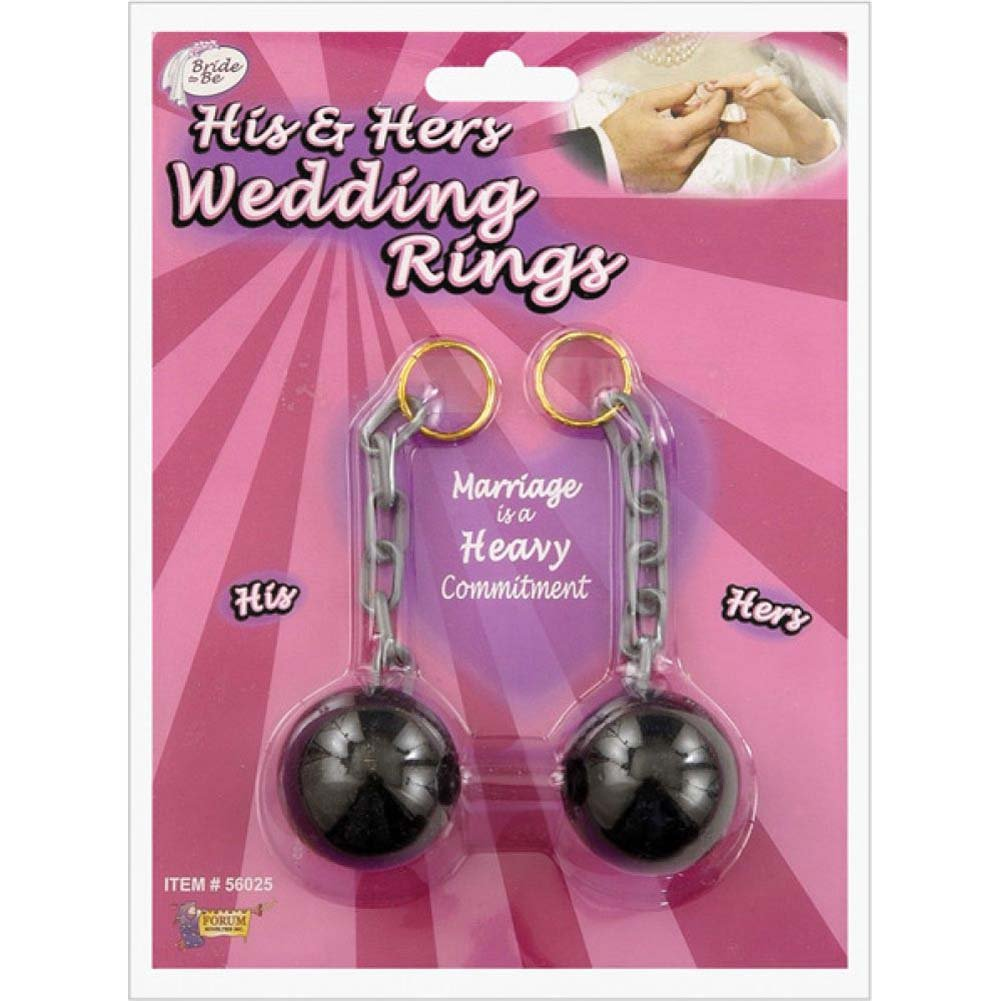 Forum Novelties His and Hers Wedding Rings Ball and Chain Black - View #1