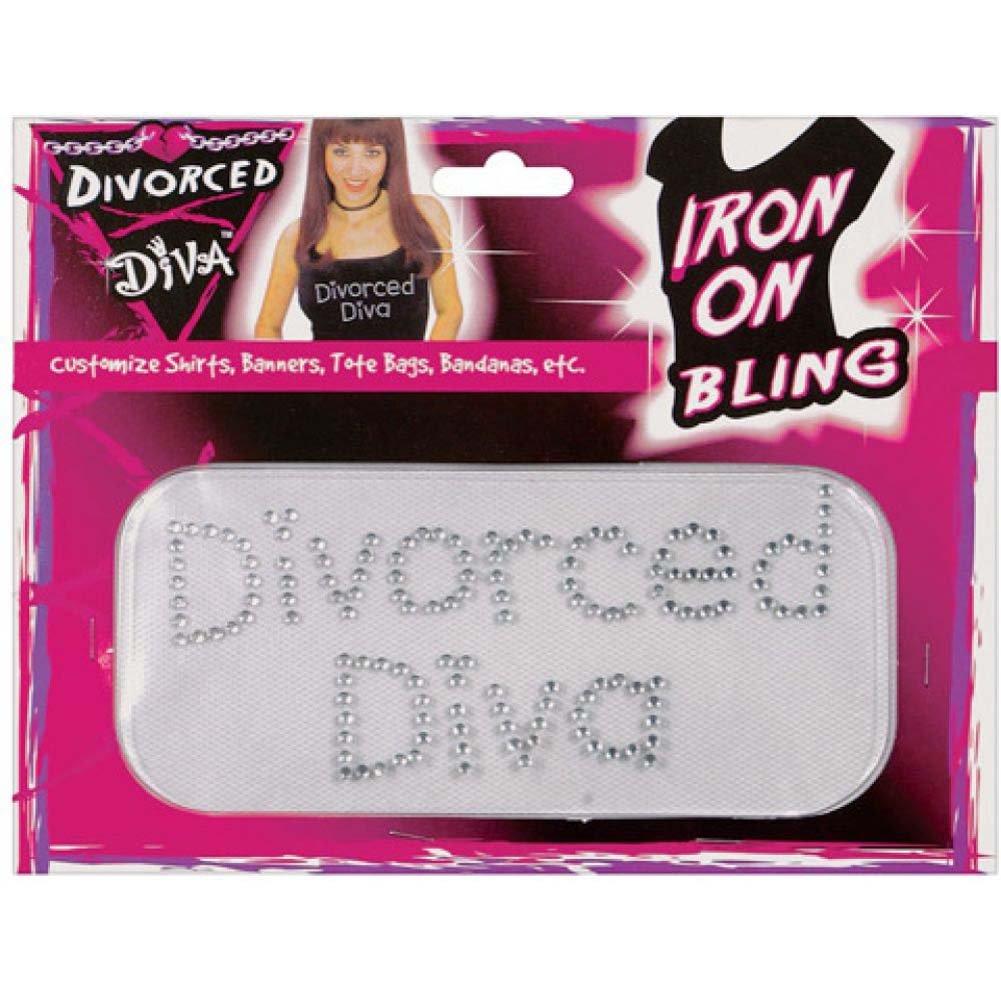 Forum Novelties Divorced Diva Iron On Bling - View #1