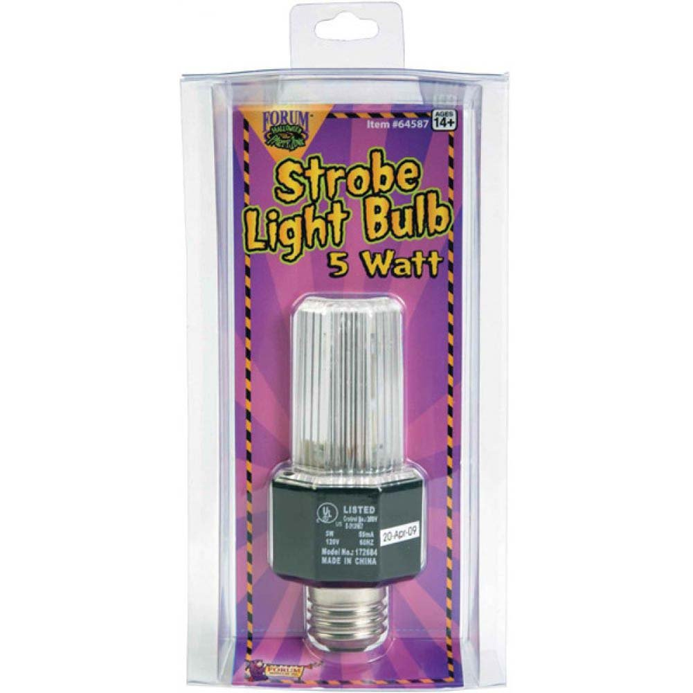 Forum Novelties Strobe Light Bulb 5 Watt Clear - View #1