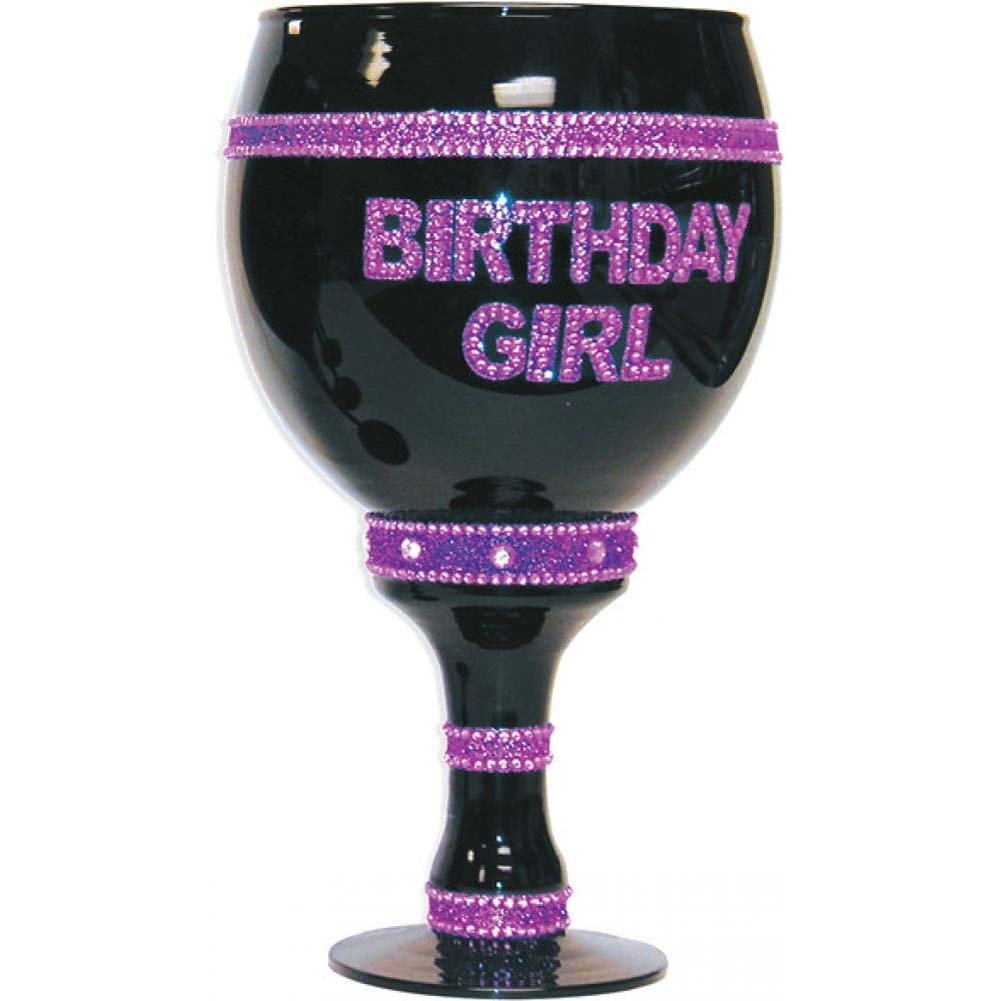 Forum Novelties Birthday Girl Over Sized Goblet Black - View #1