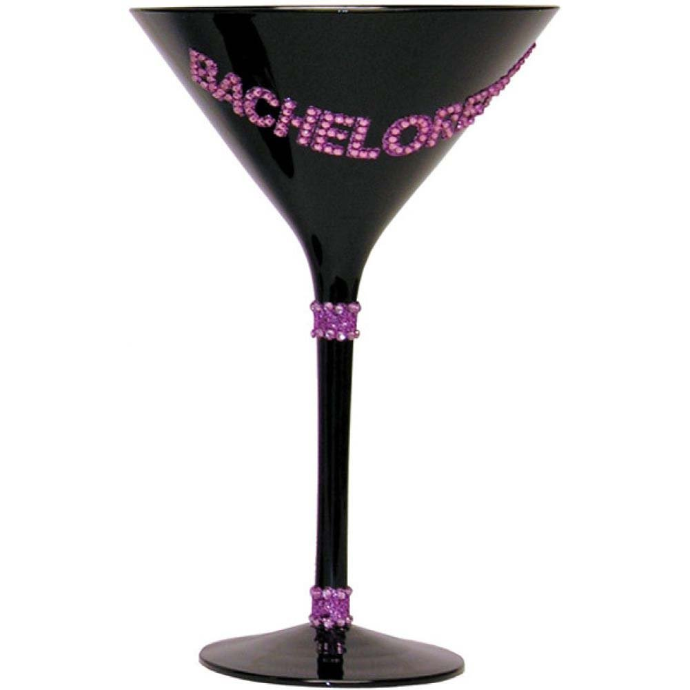 Forum Novelties Bachelorette Martini Glass Black - View #1