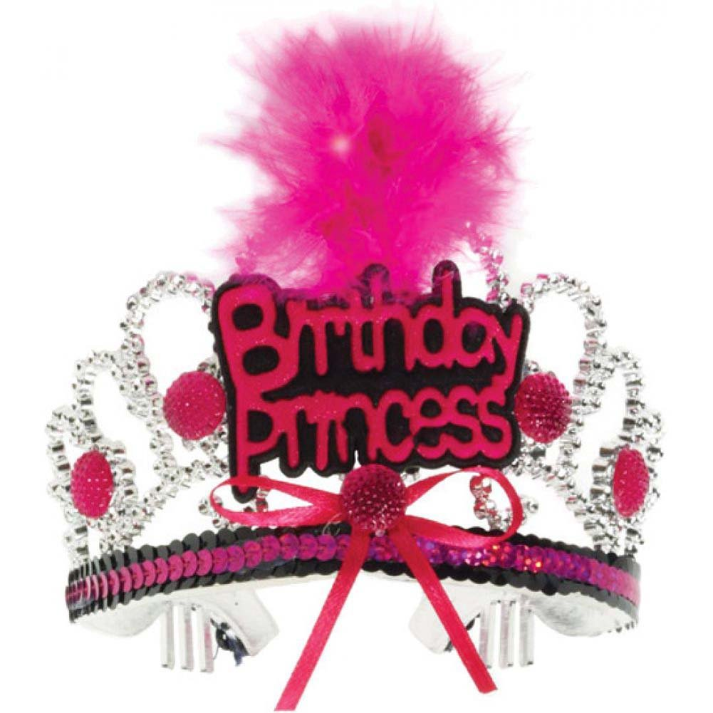 Forum Novelties Birthday Princess Tiara One Size Pink/Black - View #1