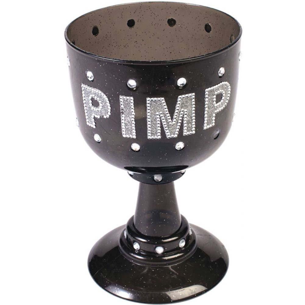 Frum Novelties Jumbo Plastic Pimp Goblet - Black - View #1