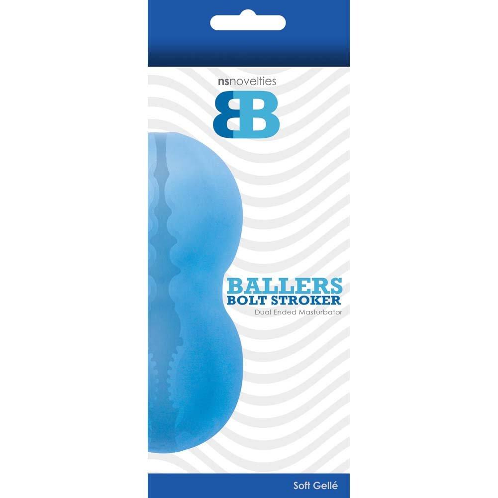 NS Novelties Baller Bolt Stroker - Aqua - View #1
