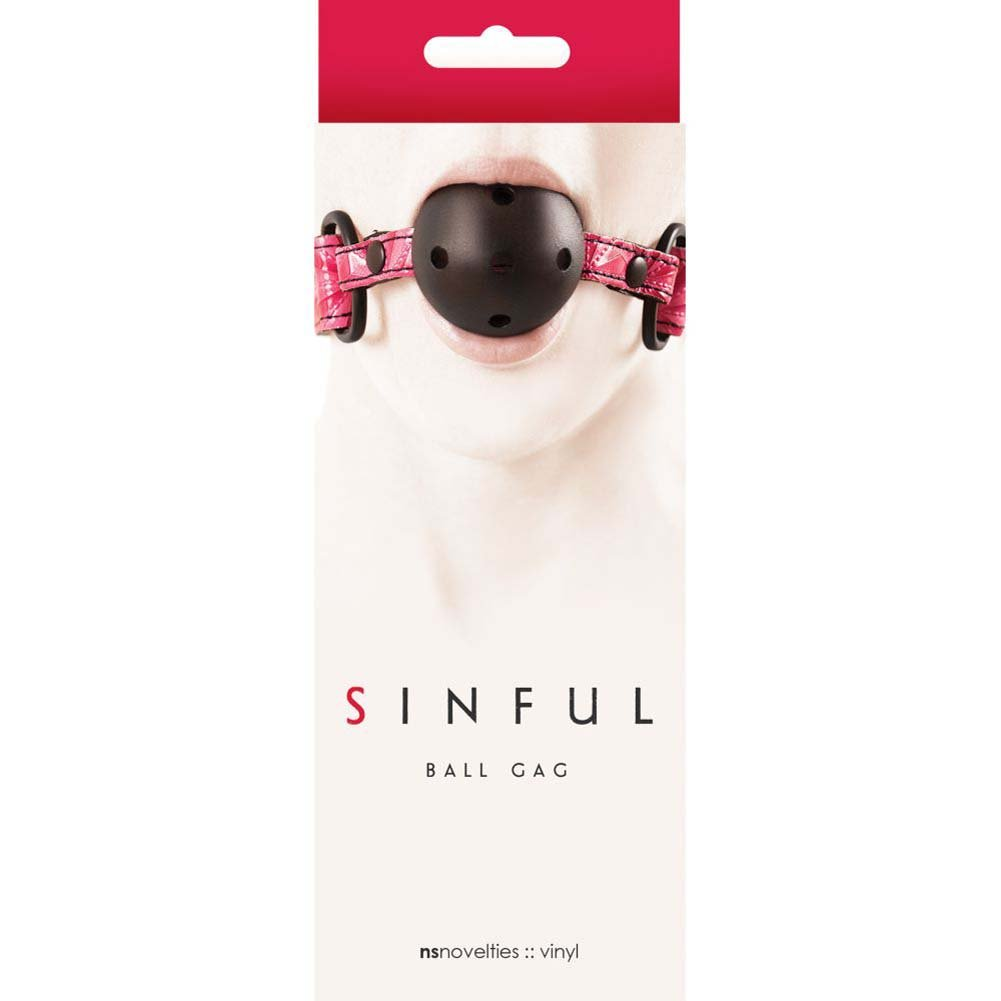 Sinful Adjustable Ball Gag by NS Novelties Kinky Pink - View #1