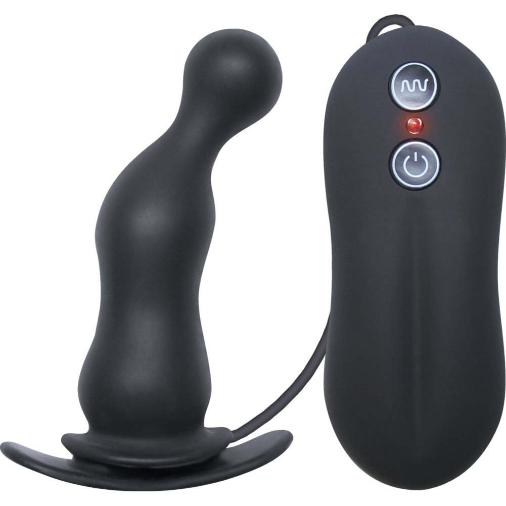 NS Novelties Tinglers Vibrating Butt Plug 3 Black - View #2