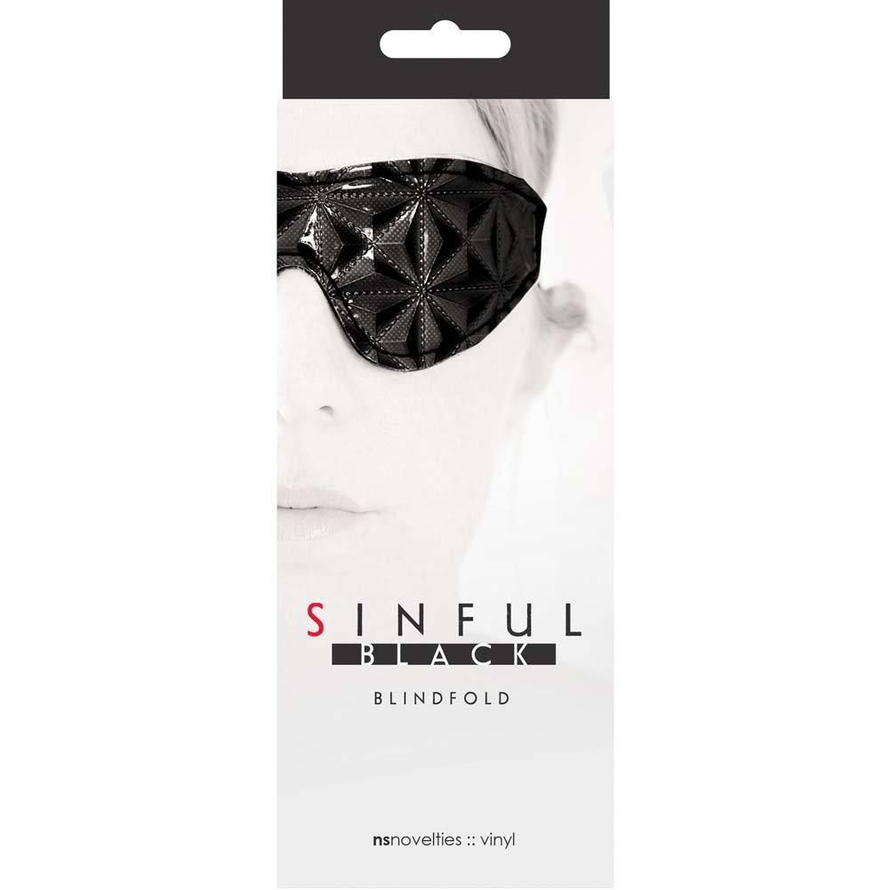 Sinful Blindfold Mask by NS Novelties Naughty Black - View #1