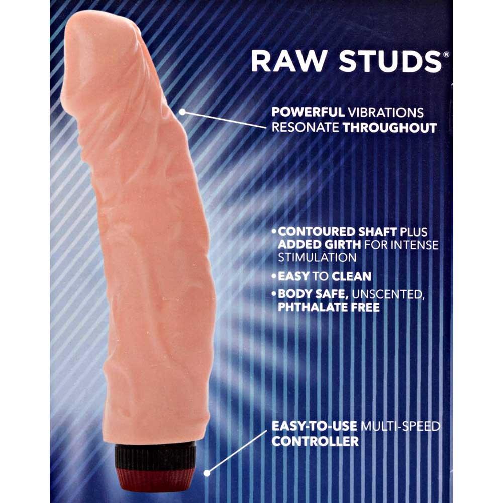 "California Exotics Raw Studs Super Veined Vibrator 8"" Ivory - View #1"