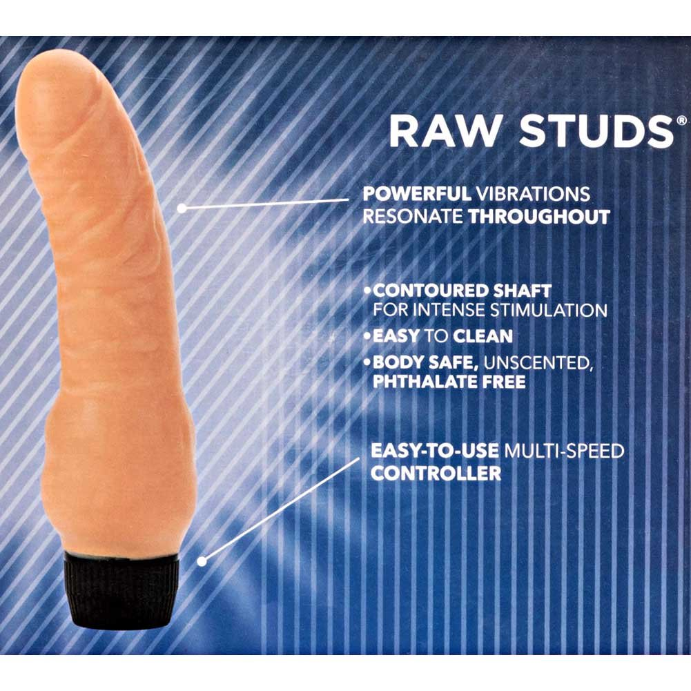 "California Exotics Raw Studs Realistic Flex Vibrator 6.75"" Ivory - View #1"