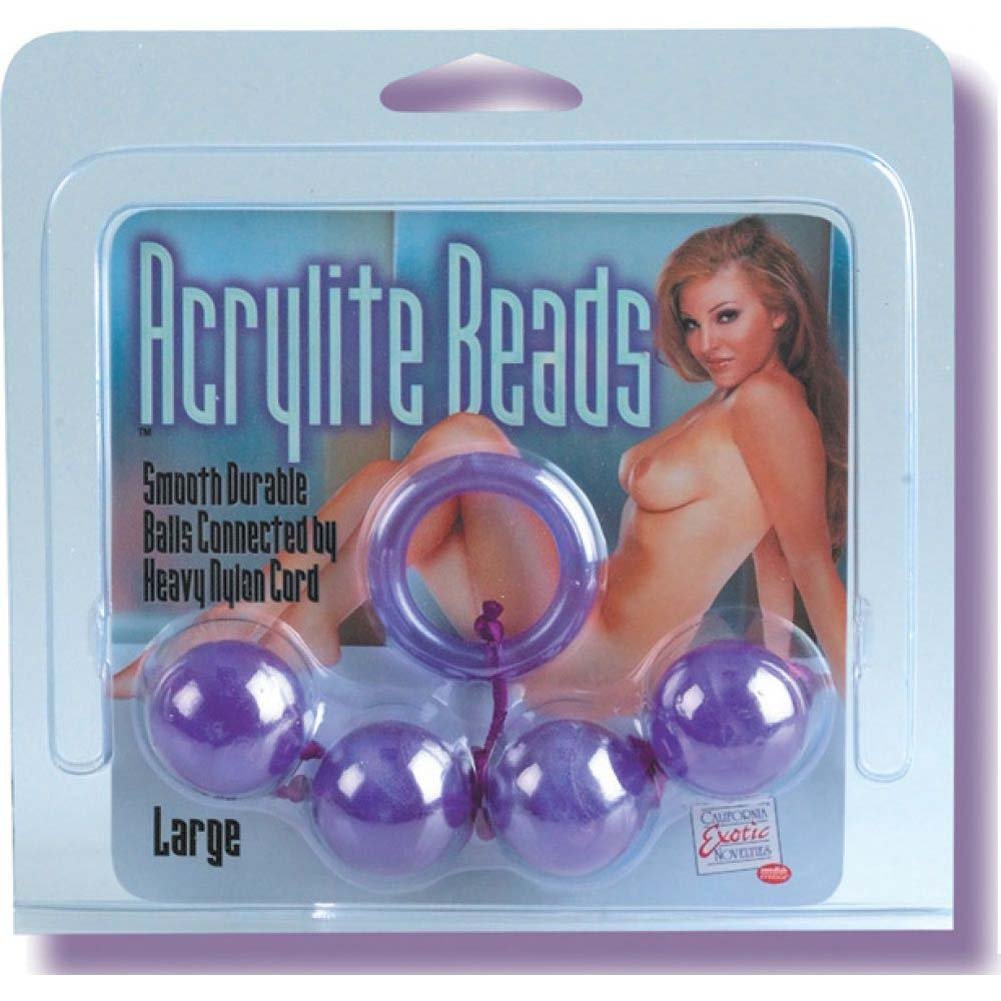Crystalline Large Anal Beads - Purple - View #1