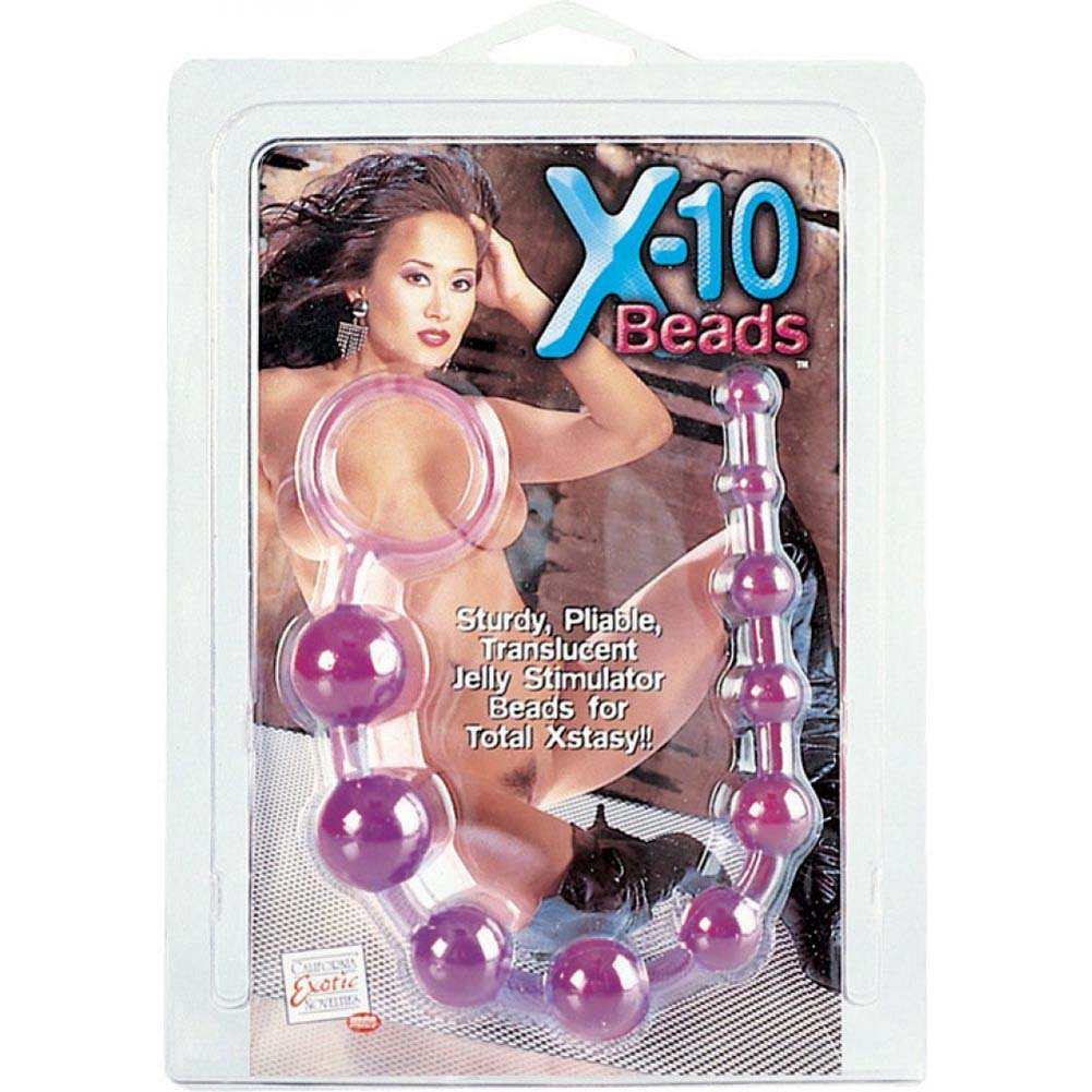 Crystalline Large Anal Beads - Purple - View #3