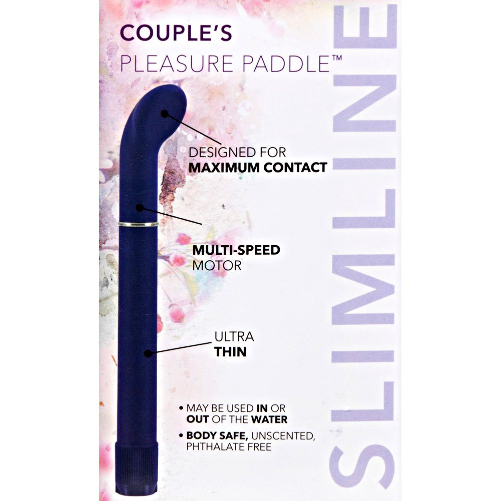 "California Exotics Couples Pleasure Paddle Vibrator 6.5"" Purple - View #1"