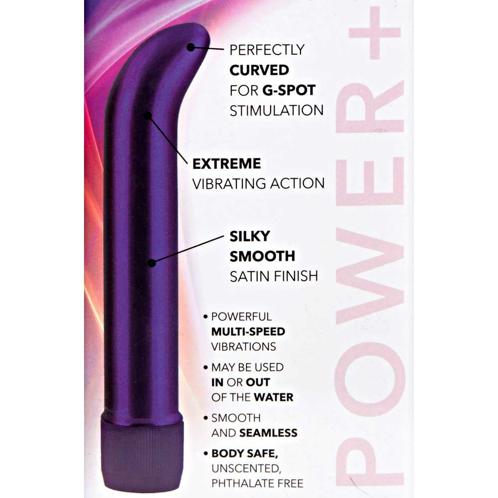 "California Exotics Satin G Silky Smooth Vibrator 7"" Passion Purple - View #1"