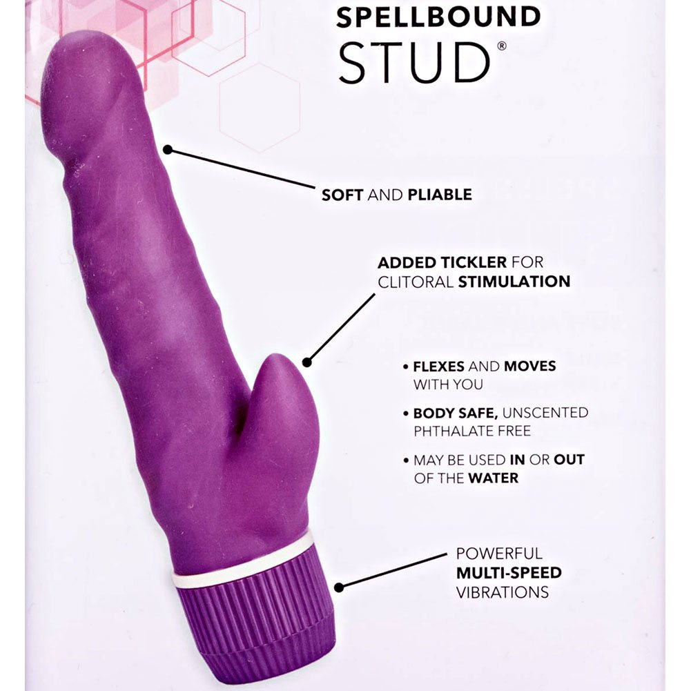 "California Exotics Spellbound Stud Double Jack 4.75"" Purple - View #1"