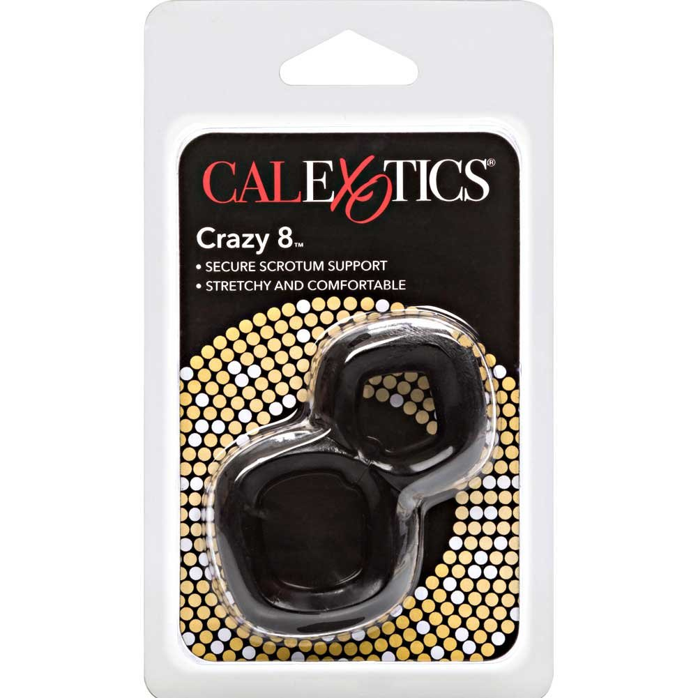 "California Exotics Crazy 8 Cock Ring 2.75"" Black - View #3"