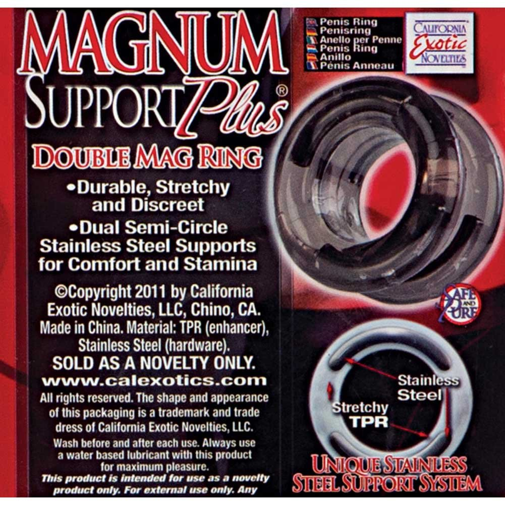 """California Exotics Magnum Support Plus Double Mag Cock Ring 1.25"""" Smoke - View #1"""