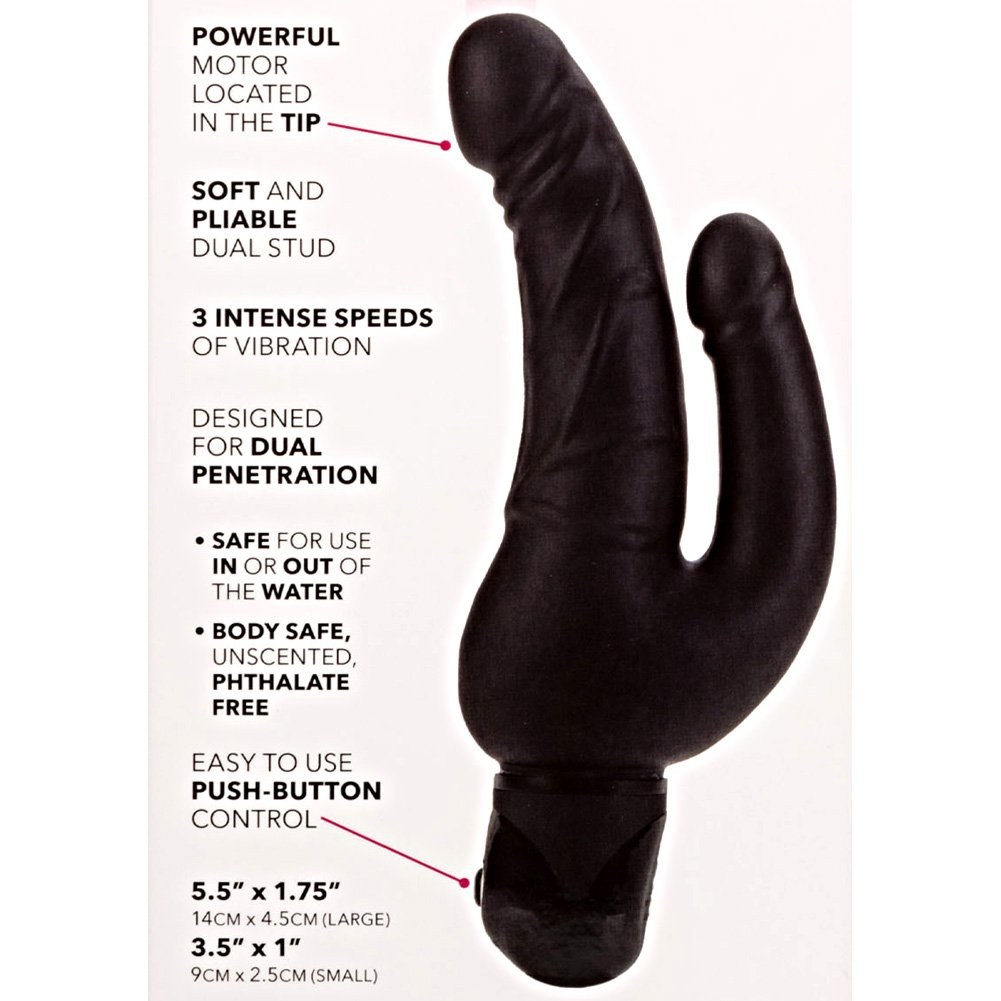 California Exotics Waterproof Power Stud Over Under Vibrating Dong Black - View #1