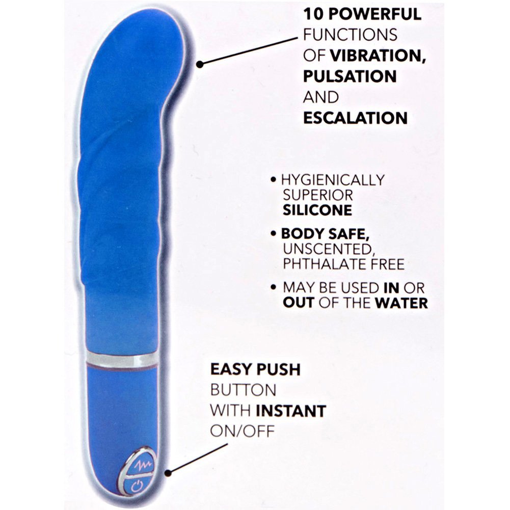 "California Exotics Lia G-Bliss Silicone Vibe 4.25"" Blue - View #1"