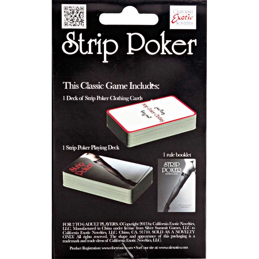 CalExotics Strip Poker Card Game Two Decks Plus Rule Book - View #1