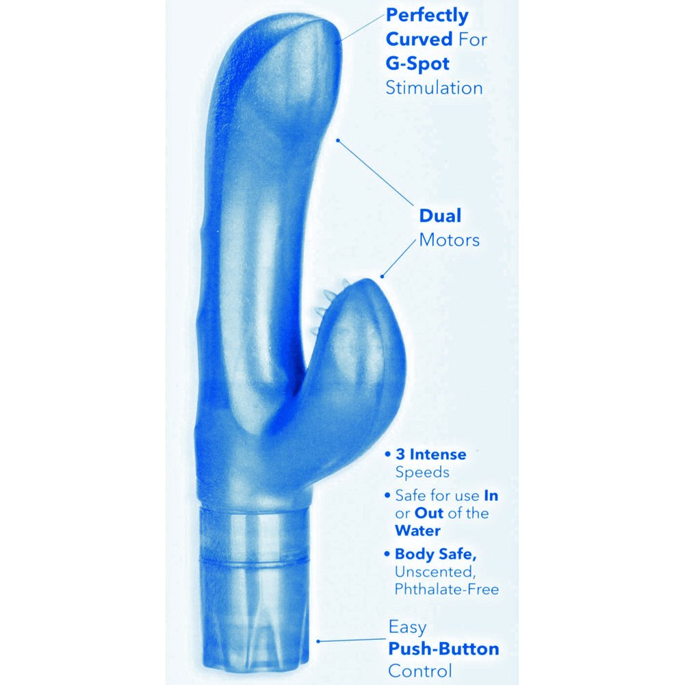 "California Exotics Platinum Edition G-Kiss Vibrator Blue 5.75"" - View #1"