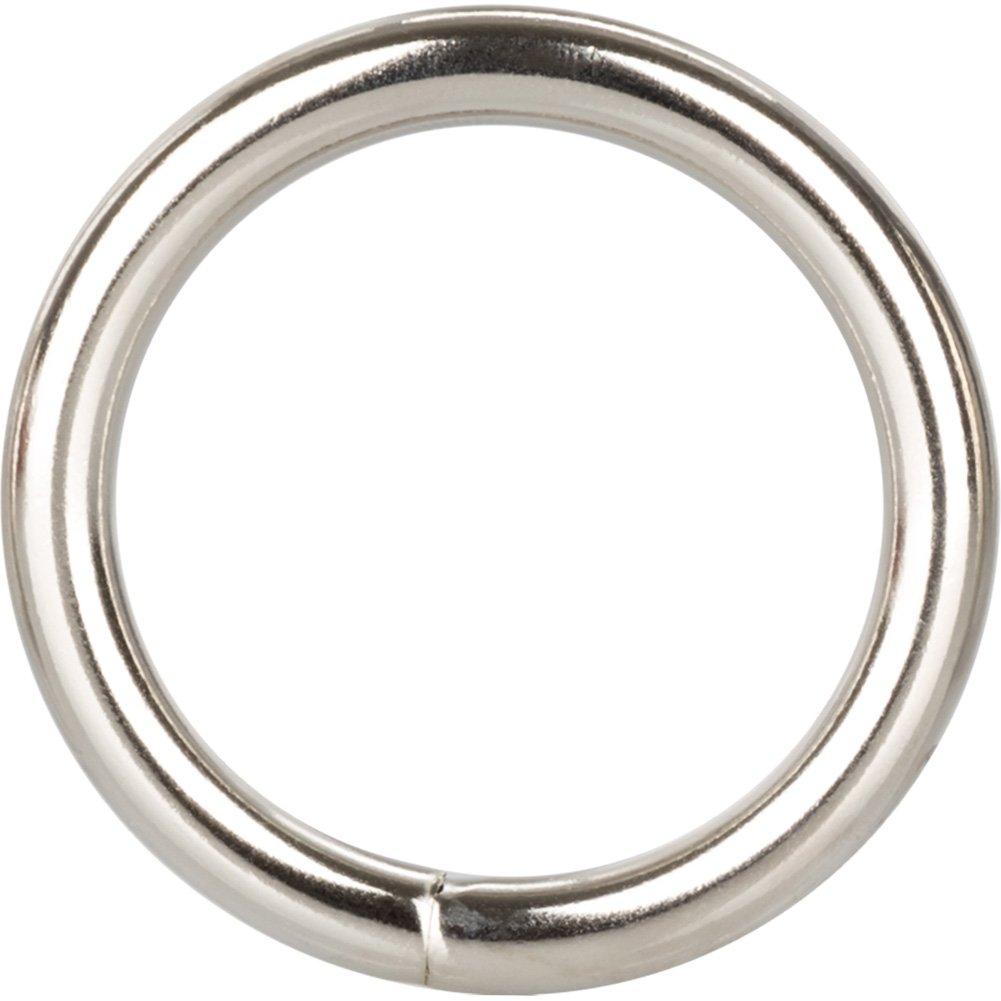 "Metal Silver Cock Ring Medium 1.5"" - View #2"