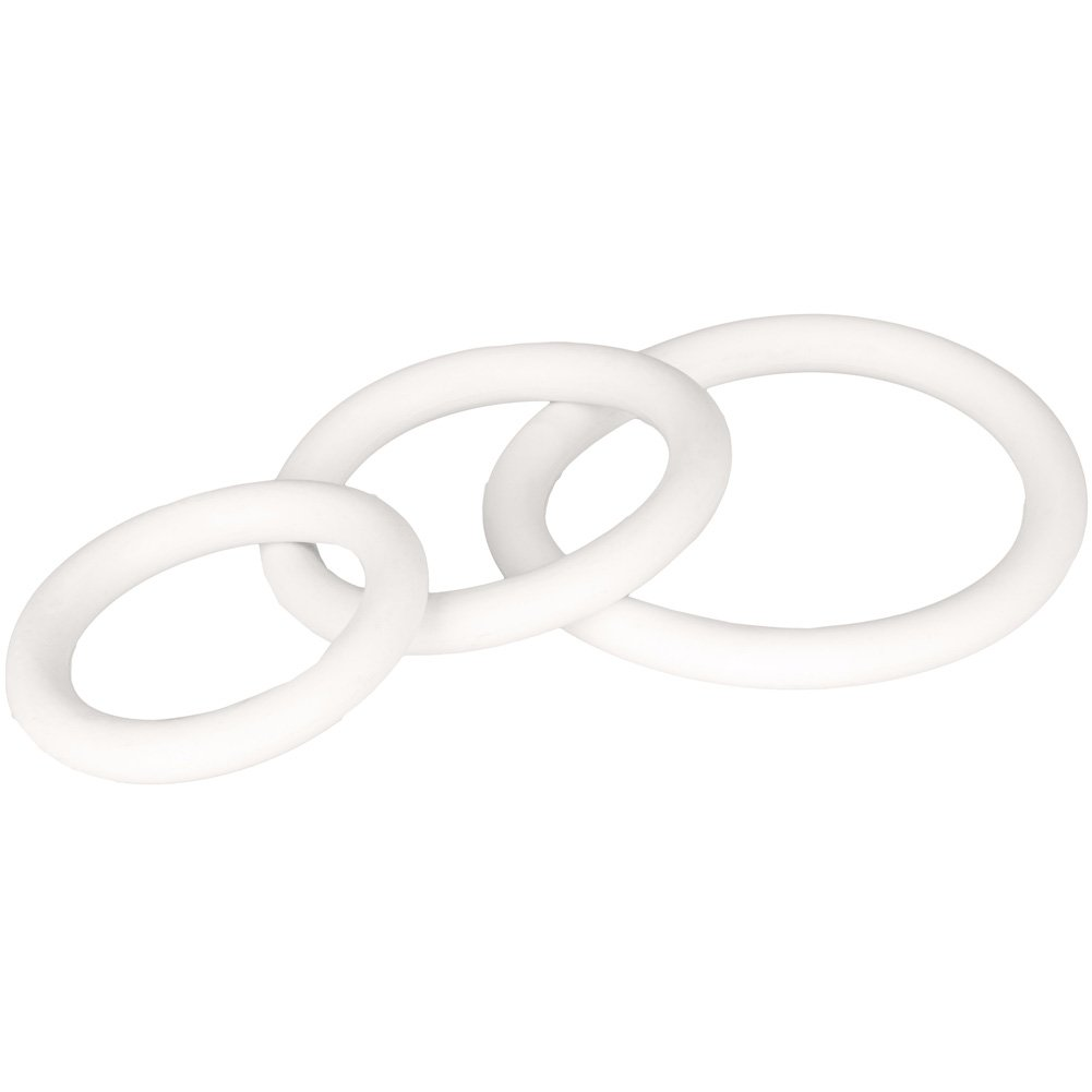 Rubber Ring 3 Piece Erection Ring Set 3 Sizes White - View #4