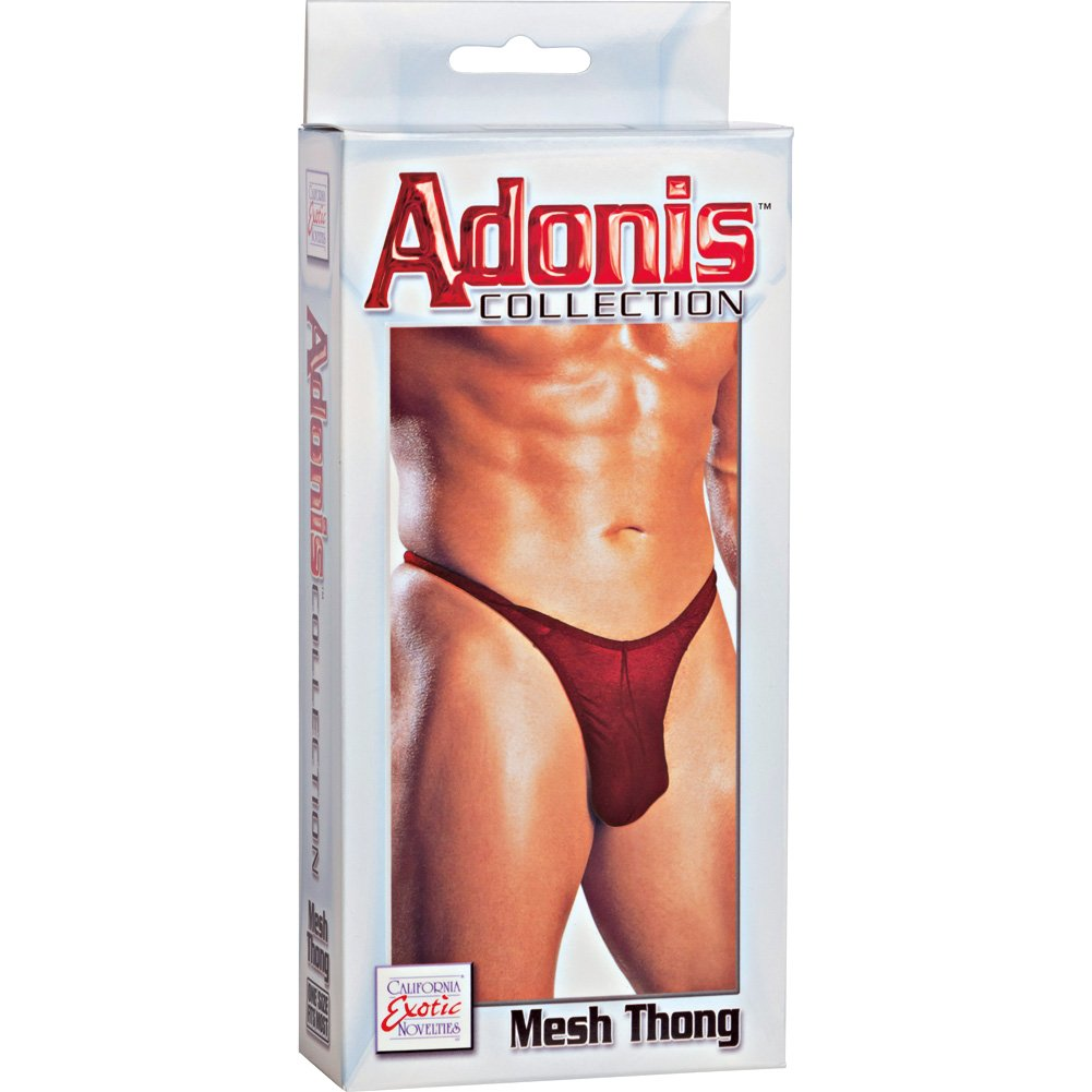 Calexotics Mens Sexy Sheer Mesh Thong One Size Scarlet Red - View #3