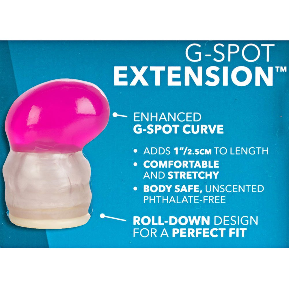 "G-Spot Stimulating Penis Extension for Couples 1"" Pink - View #1"