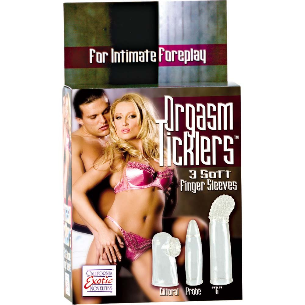 Orgasm Ticklers 3 Soft Silicone Finger Sleeves - View #1