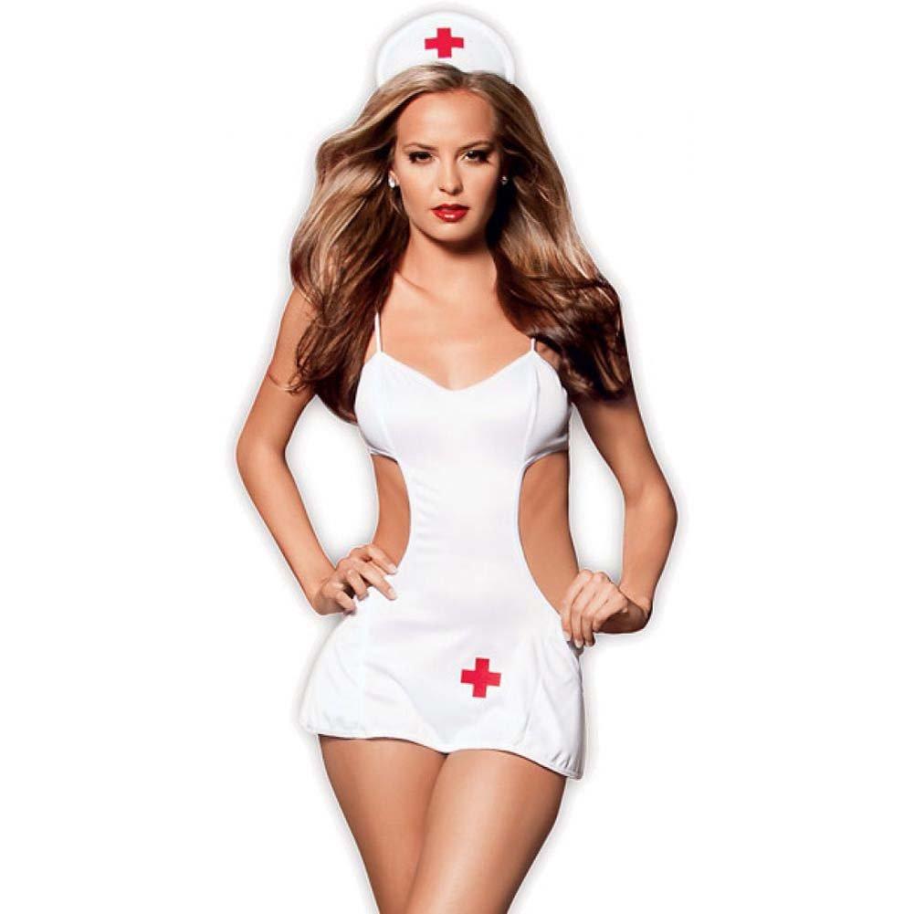 Dulce Caliente Head Nurse Bedroom Costume One Size White - View #1