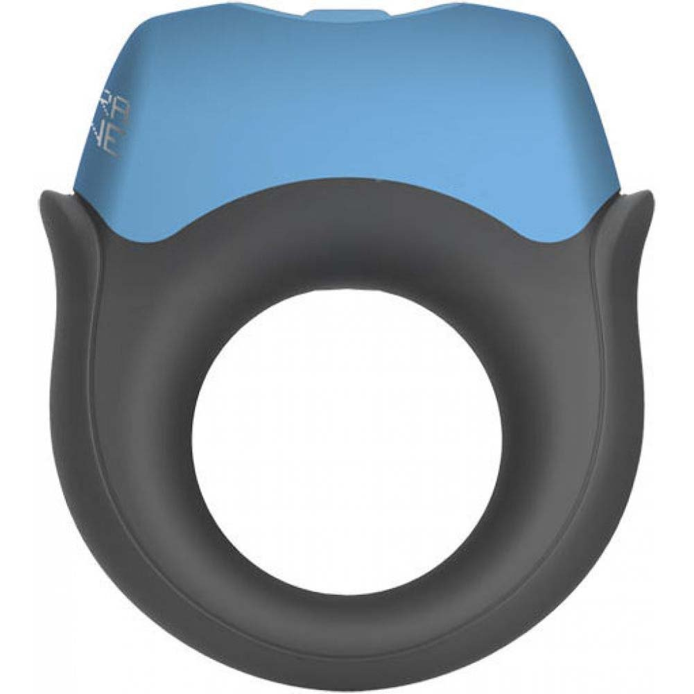 UltraZone Polar Night Rechargeable Vibrating Silicone Cock Ring Blue - View #4