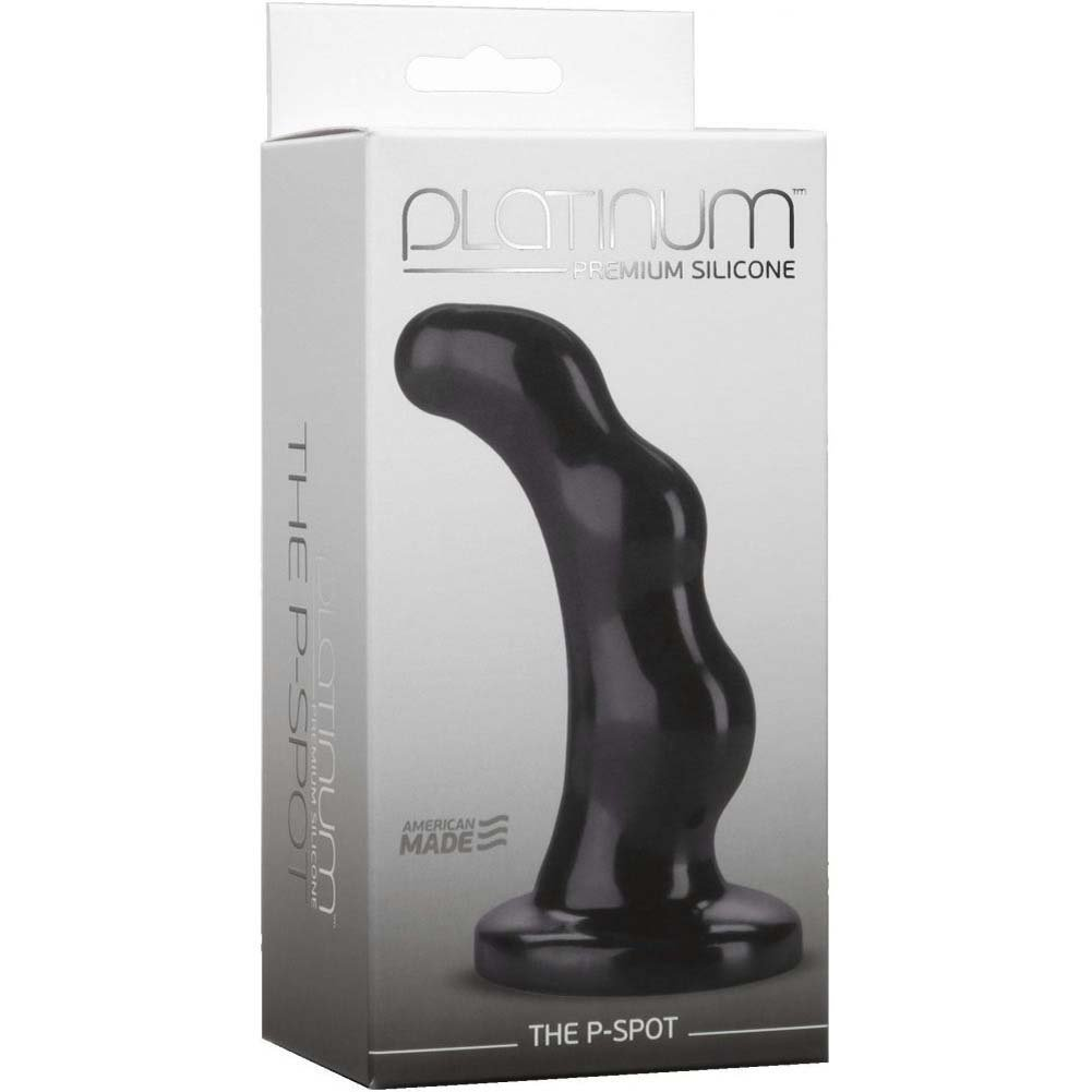 "Doc Johnson Platinum Silicone P-Spot Anal Plug 4.75"" Black - View #1"
