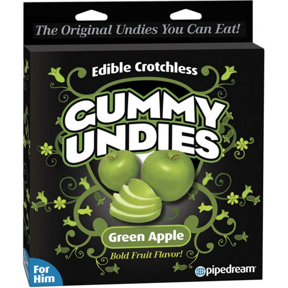 Pipedream Edible Male Gummy Undies Pack of 1 Green Apple - View #1