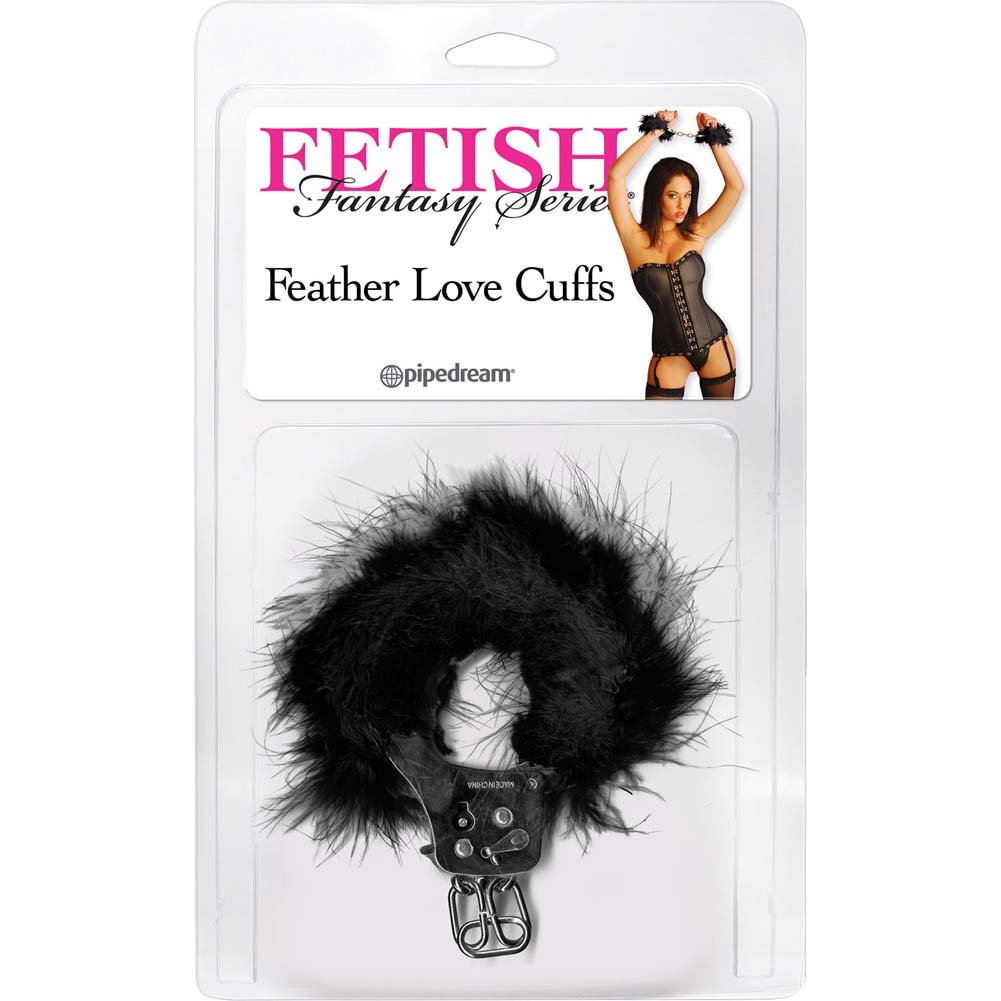 Pipedream Fetish Fantasy Series Feather Love Cuffs Black - View #1