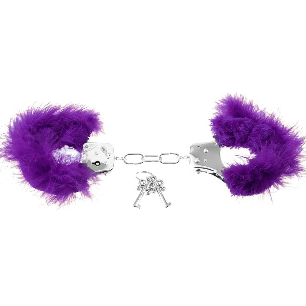 Pipedream Fetish Fantasy Series Feather Love Cuffs Purple - View #4