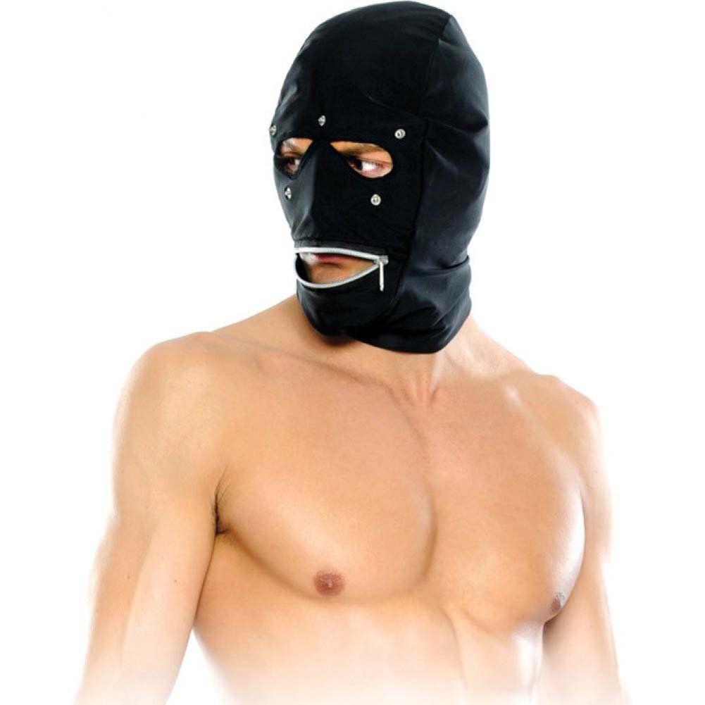 Pipedream Fetish Fantasy Series Zipper Head Hood One Size Black - View #3