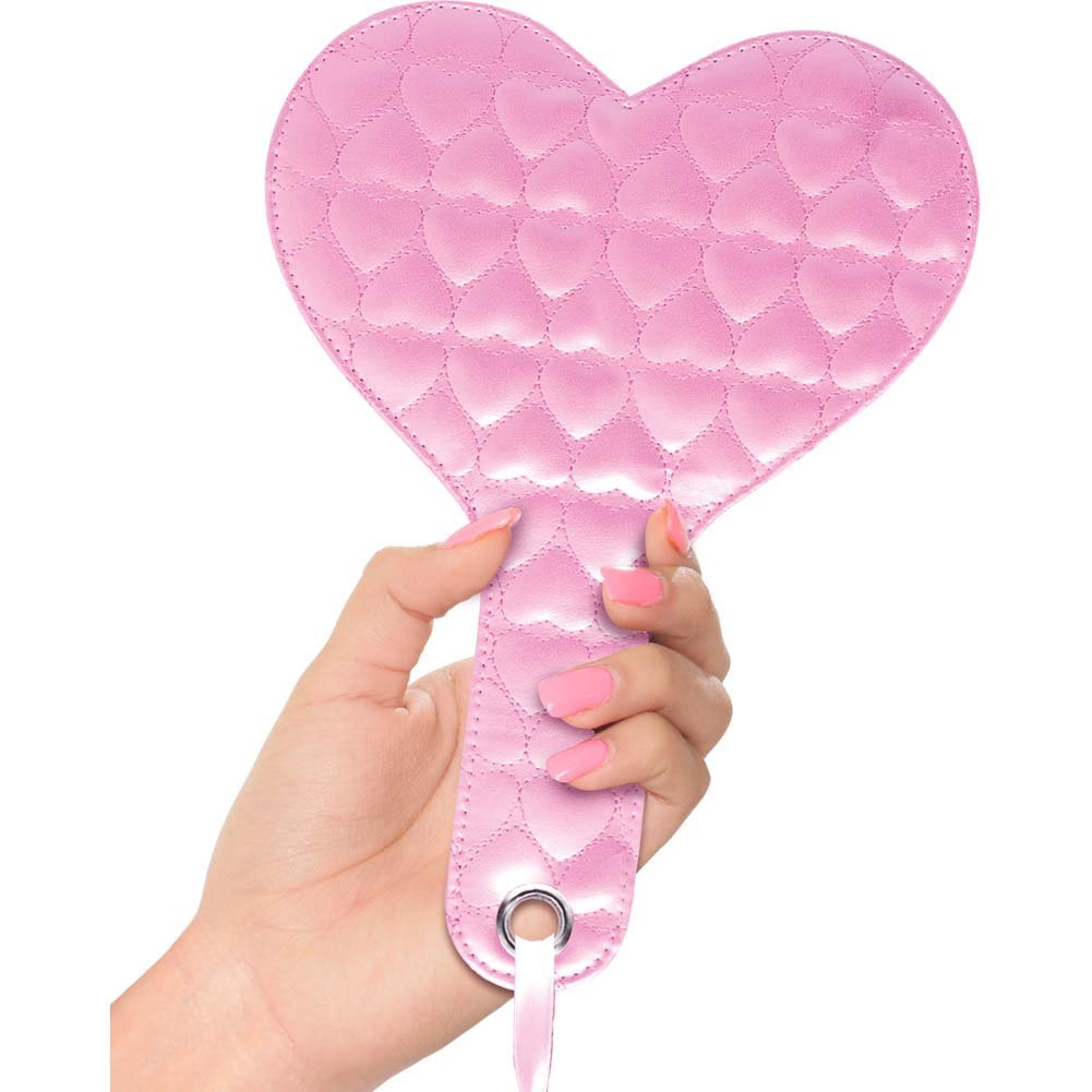 Pipedream Fetish Fantasy Series Quilted Heart Paddle Pink - View #1