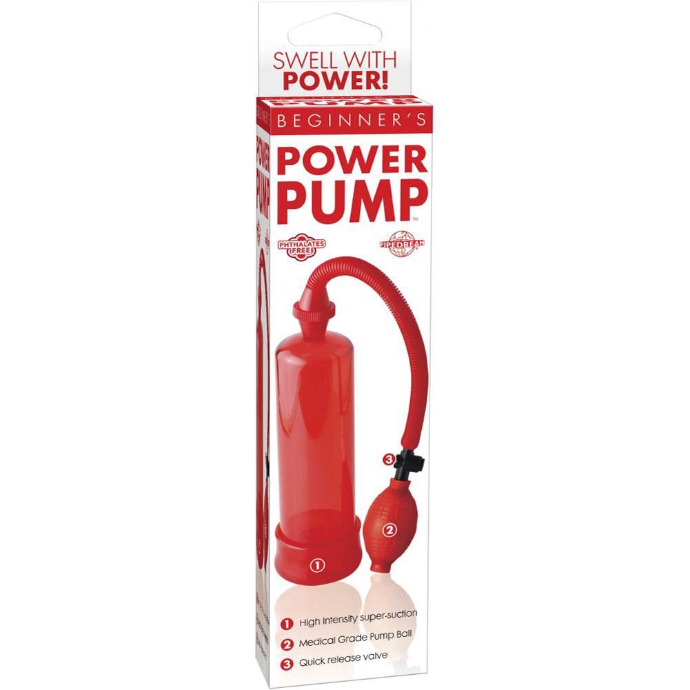 "Pipedream BeginnerS Power Pump 7.5"" Red - View #1"