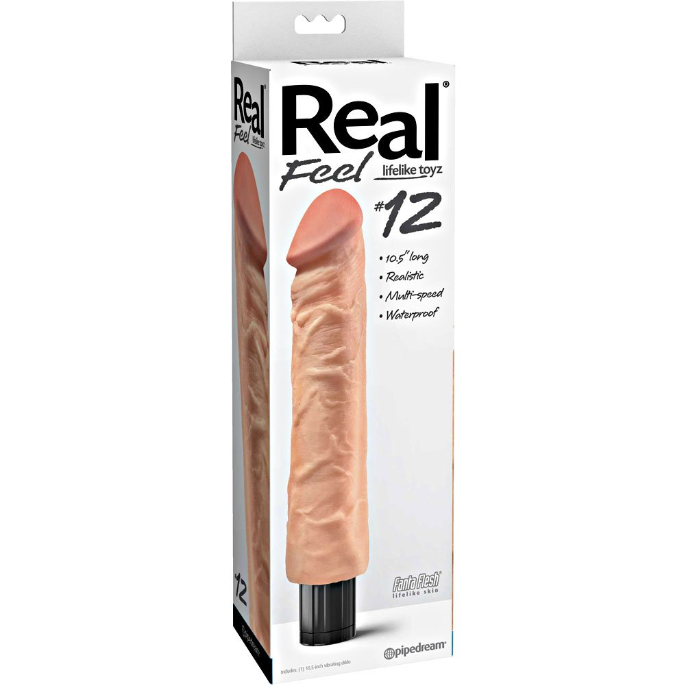 "Pipedream Real Feel No. 12 Long 10"" Waterproof Vibe Flesh Multi Speed - View #1"