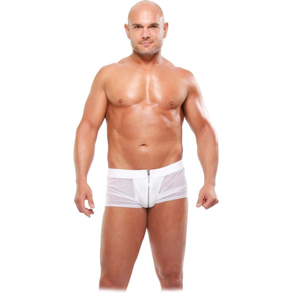 Pipedream Fetish Fantasy Lingerie White Hot Boxer Brief 2X/3X White - View #1