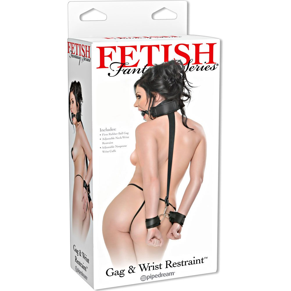 Pipedream Fetish Fantasy Series Gag And Wrist Restraint Black - View #4