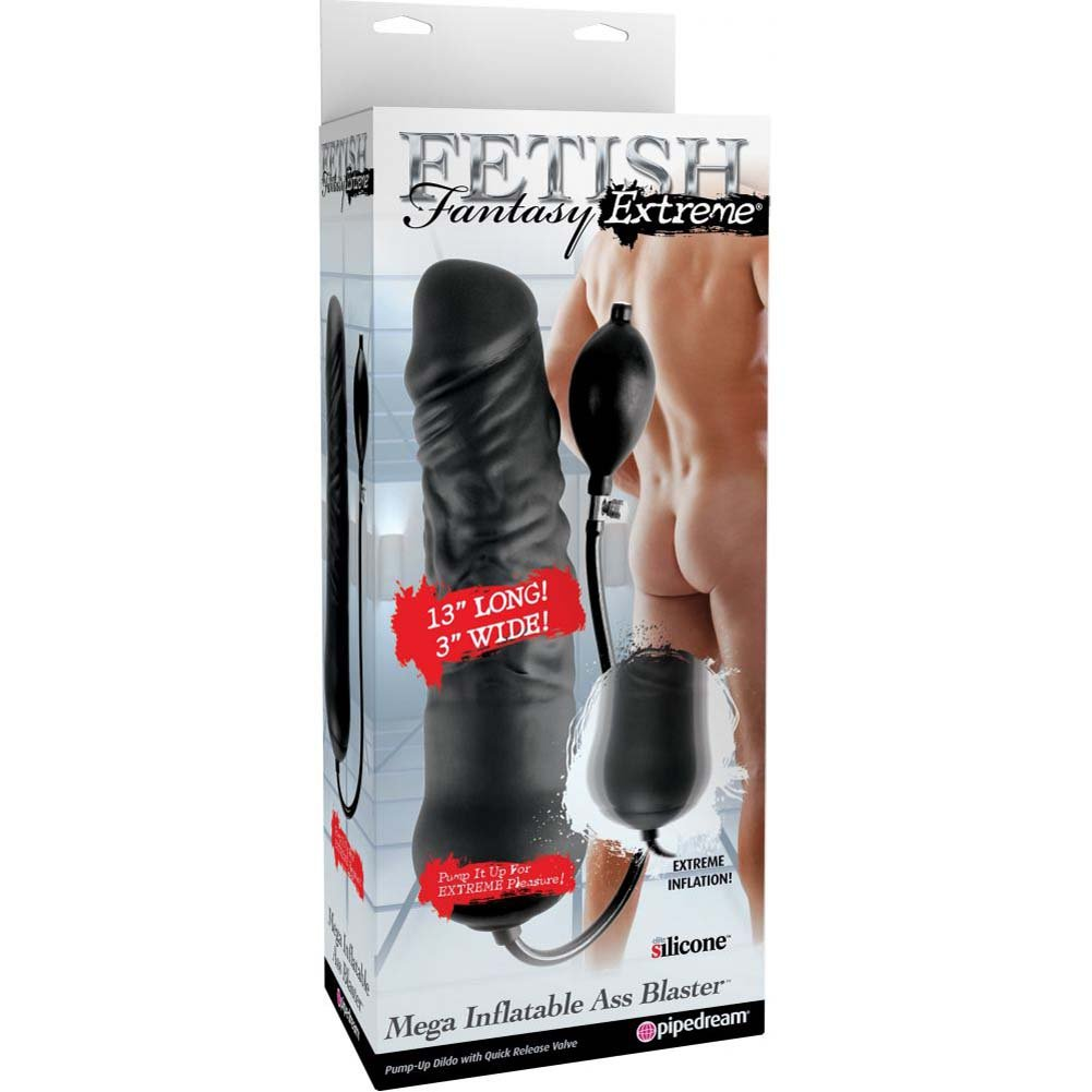 Fetish Fantasy Extreme Mega Inflatable Silicone Ass Blaster Black - View #1
