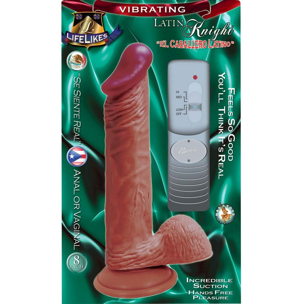 "Nasstoys Lifelikes Vibrating Latin Knight Cock with Suction Cup 8.5"" Beige - View #1"