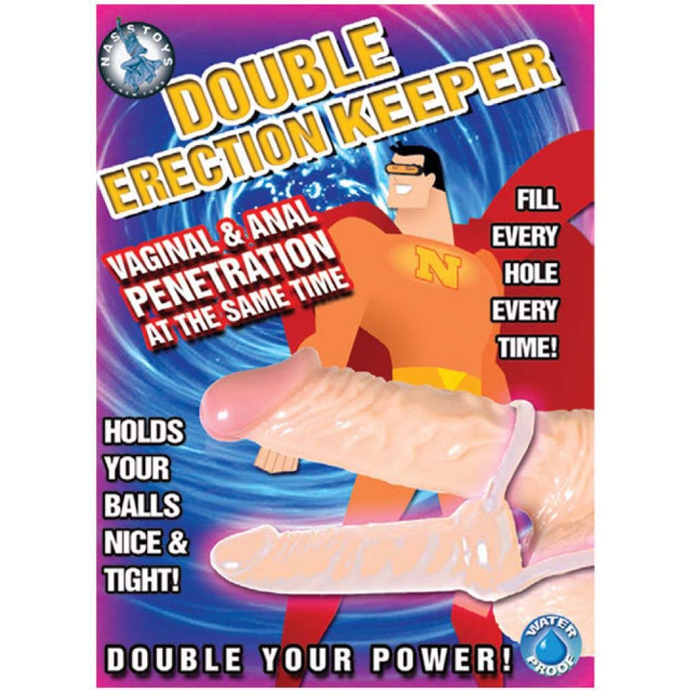 "Nasstoys Double Erection Keeper Cock Ring 4"" Flesh - View #1"