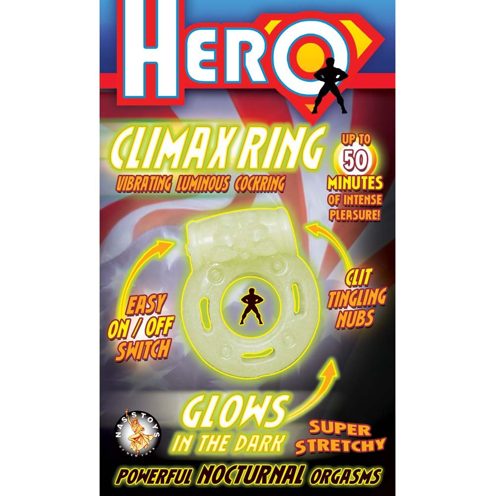 "Nasstoys Hero Climax Ring Cock Ring 2"" Glow In The Dark - View #1"