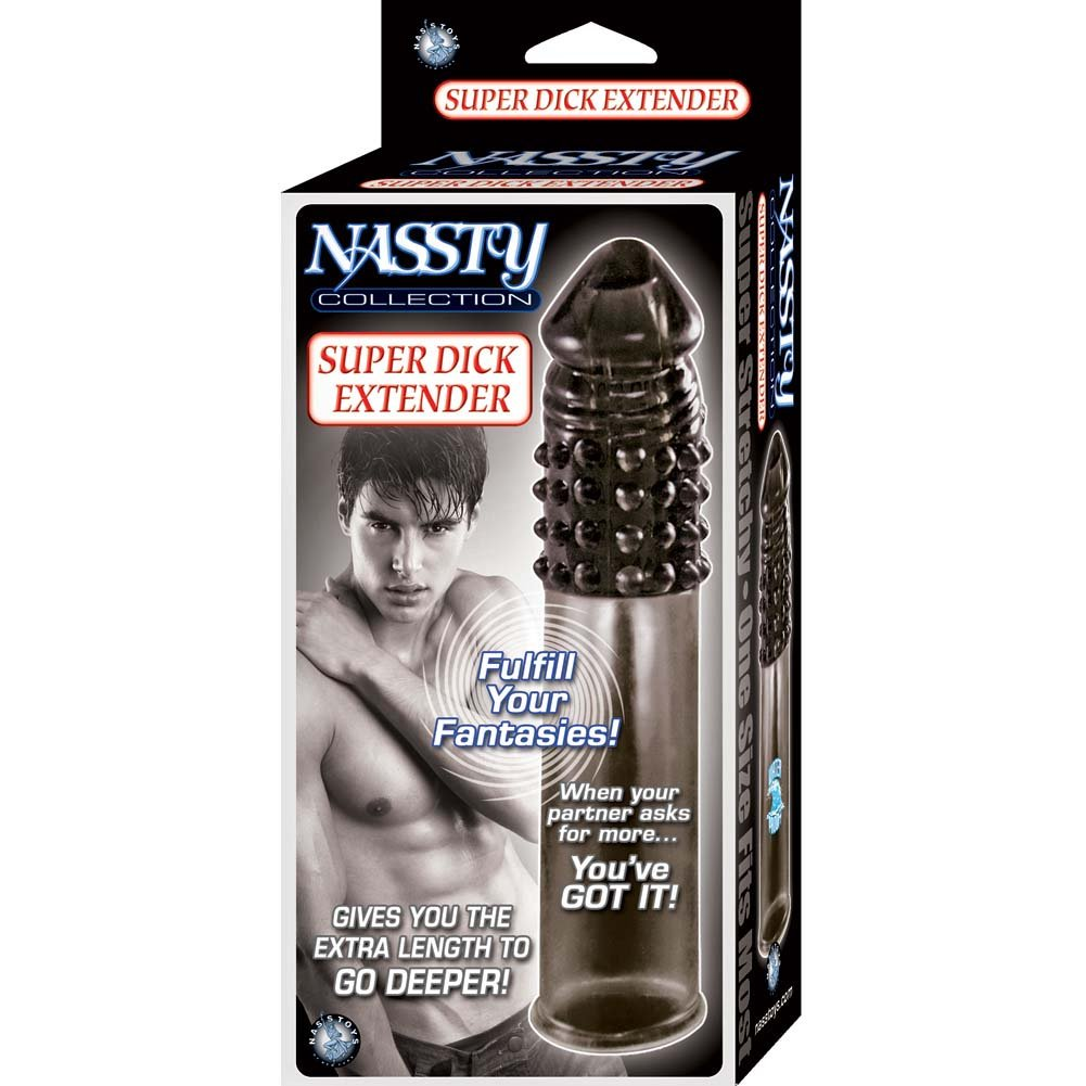 "Nasstoys Nassty Collection Super Dick Extender 7.5"" Black - View #1"