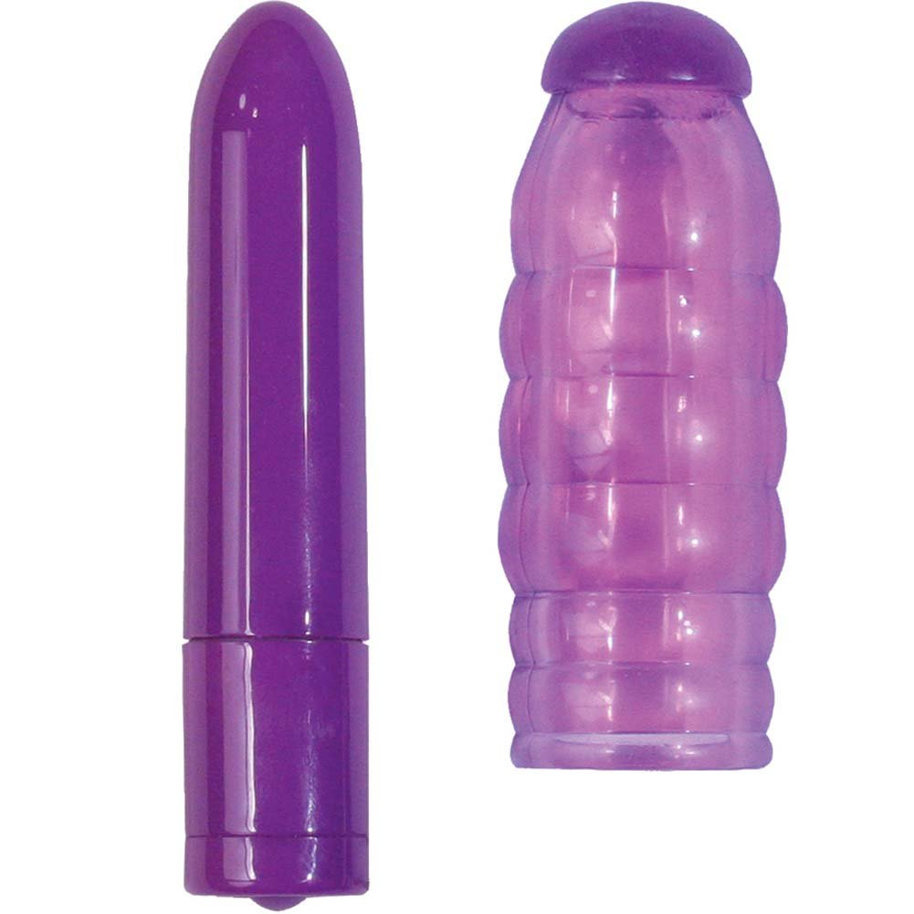 "Nasstoys 3 Speed Bullet With Orgasmic Stimulator Swirl 3"" Purple - View #2"