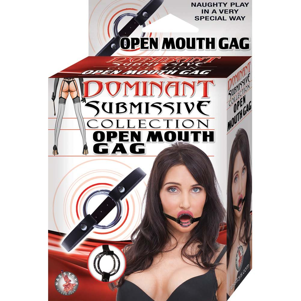 Nasstoys Dominant Submissive Open Mouth Gag Black - View #1